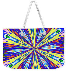 Rainbow In Space Weekender Tote Bag by Alec Drake