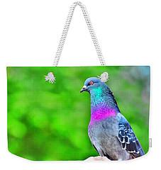 Rainbow Pigeon Weekender Tote Bag