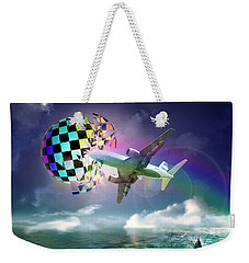 Rainbow Set Free Weekender Tote Bag by Rosa Cobos