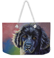 Rainbows And Sunshine - Newfoundland Puppy Weekender Tote Bag