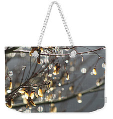 Raindrops And Leaves Weekender Tote Bag