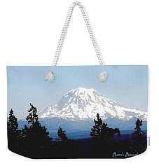 Weekender Tote Bag featuring the photograph Rainier Reign by Sadie Reneau