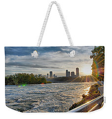 Weekender Tote Bag featuring the photograph Rapids Sunset by Michael Frank Jr