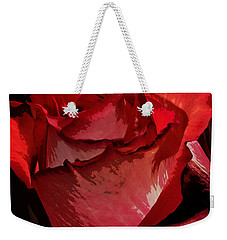 Rare Red Rose Weekender Tote Bag by Phyllis Denton