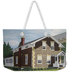 Weekender Tote Bag featuring the painting Rasey House by Norm Starks