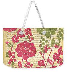 Raspberry Sorbet Floral 2 Weekender Tote Bag by Debbie DeWitt