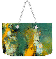 Weekender Tote Bag featuring the painting Raven's Flight by Tom Roderick