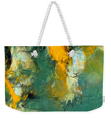 Weekender Tote Bag featuring the painting Rave's Flight by Tom Roderick