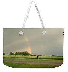Weekender Tote Bag featuring the photograph Ray Bow by Bonfire Photography