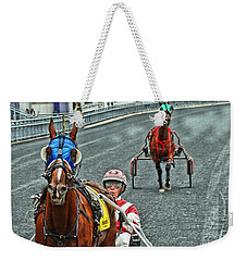 Weekender Tote Bag featuring the photograph Ready To Race by Alice Gipson