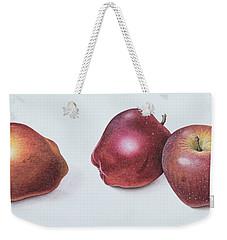 Red Apples Weekender Tote Bag by Margaret Ann Eden