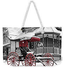 Weekender Tote Bag featuring the photograph Red Buggy At Olmsted Falls - 2 by Mark Madere