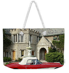 Red Corvette Outside The Playboy Mansion Weekender Tote Bag