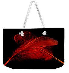 Red Ghost On Black Weekender Tote Bag
