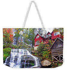 Red House By The Waterfall 2 Weekender Tote Bag