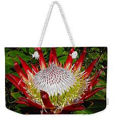 Red King Protea Weekender Tote Bag
