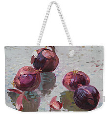 Red Onions Weekender Tote Bag by Ylli Haruni