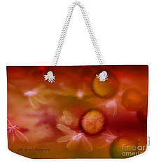 Weekender Tote Bag featuring the photograph Red Pearl Dragon Fly by Vicki Ferrari