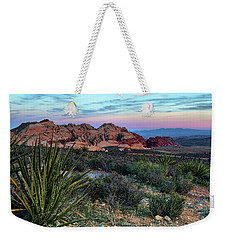 Red Rock Sunset II Weekender Tote Bag by Rick Berk