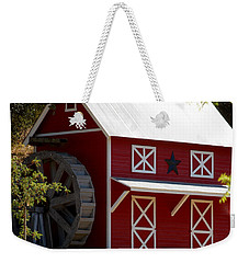 Red Star Barn Weekender Tote Bag by Holly Blunkall