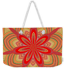 Red Star Brocade Weekender Tote Bag by Alec Drake