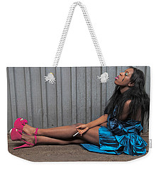 Weekender Tote Bag featuring the photograph Red Stilettos by Alice Gipson