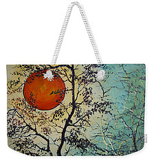 Red Sun A Red Moon Weekender Tote Bag