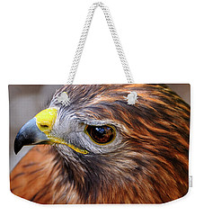 Red-tailed Hawk Close Up Weekender Tote Bag