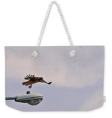 Red-tailed Hawk In Flight Weekender Tote Bag