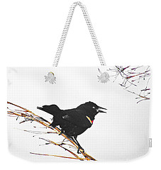 Red Winged Blackbird Weekender Tote Bag by Lizi Beard-Ward