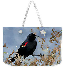 Redwing Blackbird Weekender Tote Bag by Betty LaRue