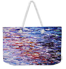 Weekender Tote Bag featuring the painting Reflections by Kume Bryant