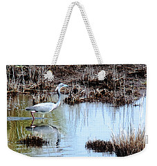 Reflections Of A Blue Heron Weekender Tote Bag