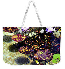 Weekender Tote Bag featuring the photograph Reflections On Underwater Life by Clayton Bruster