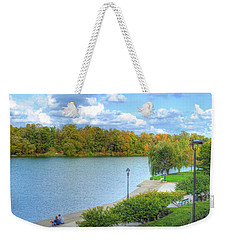 Weekender Tote Bag featuring the photograph Relaxing At Hoyt Lake by Michael Frank Jr