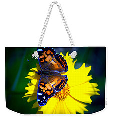 Resting Butterfly Weekender Tote Bag by Kevin Fortier