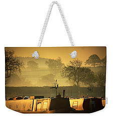 Resting Narrowboats Weekender Tote Bag by Linsey Williams