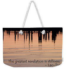 Weekender Tote Bag featuring the photograph Revelation by Lainie Wrightson