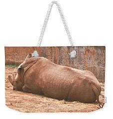 Rhino Weekender Tote Bag