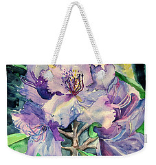 Rhododendron Weekender Tote Bag by Mindy Newman