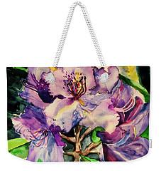 Rhododendron Violet Weekender Tote Bag