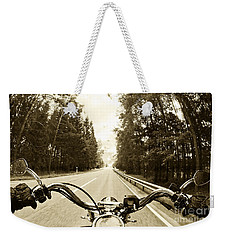 Riders Eye Veiw In Sepia Weekender Tote Bag