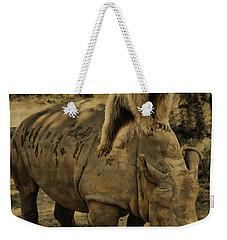 Riding Along- Rhino And Bear Weekender Tote Bag