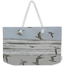 Weekender Tote Bag featuring the photograph Riding The Wind by Donna Brown
