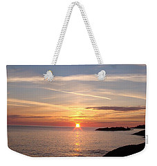 Weekender Tote Bag featuring the photograph Rising Sun by Bonfire Photography