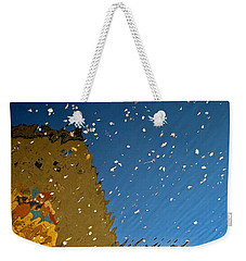 Weekender Tote Bag featuring the photograph River Crossing Border Crossing by Andy Prendy