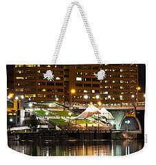 River Front At Night Weekender Tote Bag