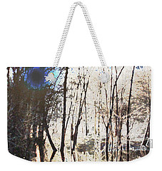 Weekender Tote Bag featuring the photograph River Trees by Donna  Smith