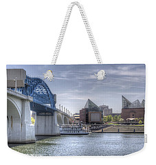 Riverfront Weekender Tote Bag by David Troxel