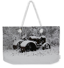 Weekender Tote Bag featuring the photograph Robed In White by Christian Mattison
